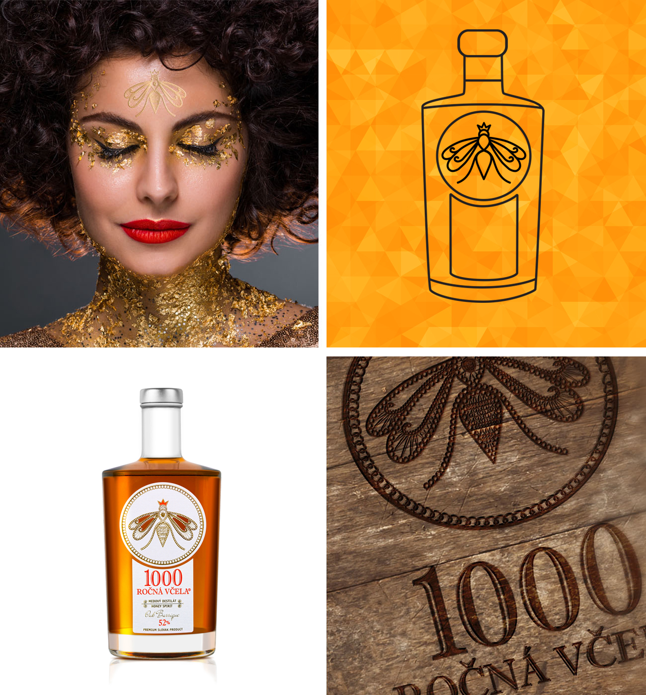 1000 ročná včela branding